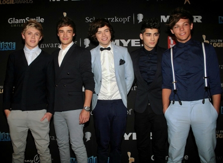 One Direction at the Logies award 2012