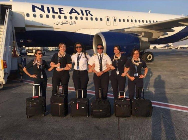 Egypt's Nile Air all-women flight crew