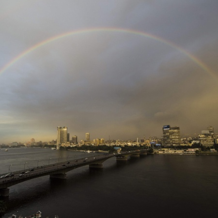 Rainbow Over Cairo Al-Ahram
