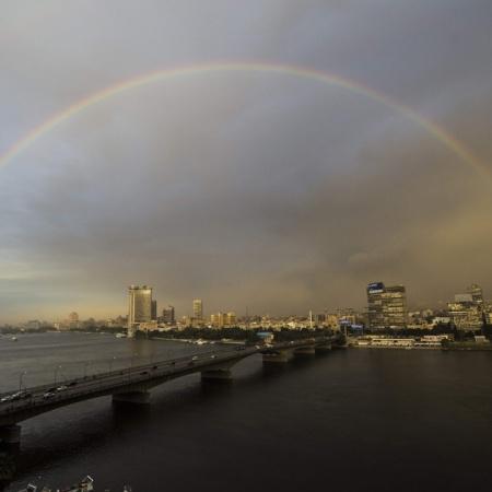 Rainbow Over Cairo Al-Ahram