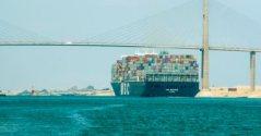 Suez Canal Ship Crossing Youm7