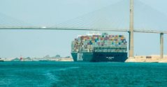 Suez Canal Ship Crossing Youm7