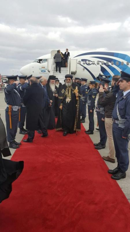 Egyptian Pope visits Greece and is welcomed by Greek officials