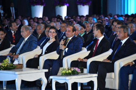 Egyptian President ElSisi with Youth in Conference Sharm ElSheikh