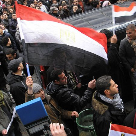 Egyptians stand in solidarity