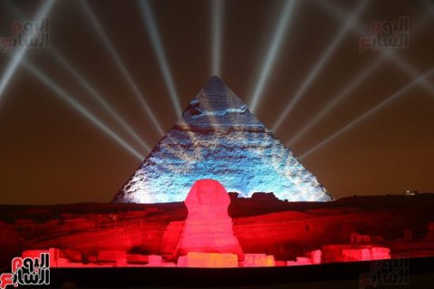 2017-01-01 New Year's celebration in Egypt at the Giza Pyramids - New Year 2017 Youm7