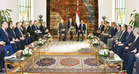 Egypt Belarus President meeting in Cairo Al-Ahram