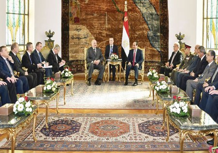 Egypt Belarus President meeting in Cairo Al-Ahram