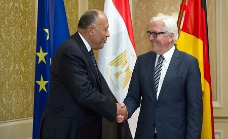 Egypt and German foreign ministers in Berlin AFP Al-Ahram