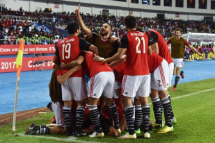 Egypt Celebrate First Goal in CAF final 2017 - Youm7