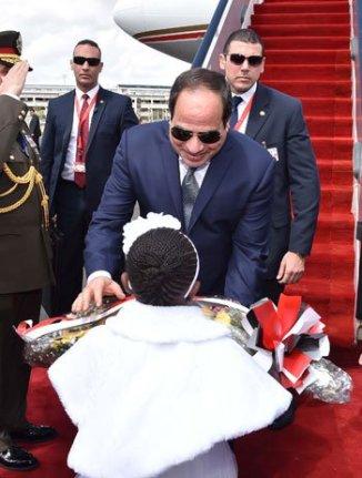 2017-02-18 Egypt and Kenya presidents El-sisi and Kenyatta meet in Nairobi Youm7