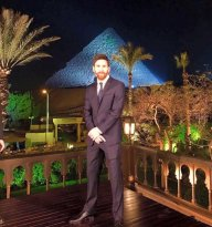 Lionel Messi at the Giza Pyramids of Egypt 2017