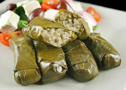 Stuffed Vine Leaves Egyptian Dish