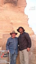 Will Smith with Egyptologist Dr. Zahi Hawass at the Giza Plateau, Egypt 2017 (Youm7)