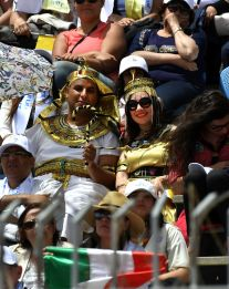 Pope Francis Mass in Cairo Stadium Egypt 2017, the Pharaohs among the attendees (Source: Youm7)