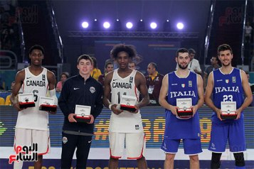 2017-07-09 FIBA under-19 basketball top players awards Canada Italy USA Cairo Stadium Egypt - Youm7