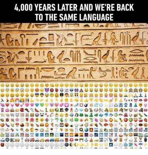 2017-07-18 Egyptian Sign Language and Emojis 4000 years later