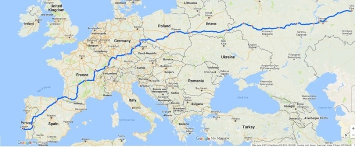 FastestXEurope Cycling Team Sweden Egypt Fastest Trip around Europe Guinness Record Route Map
