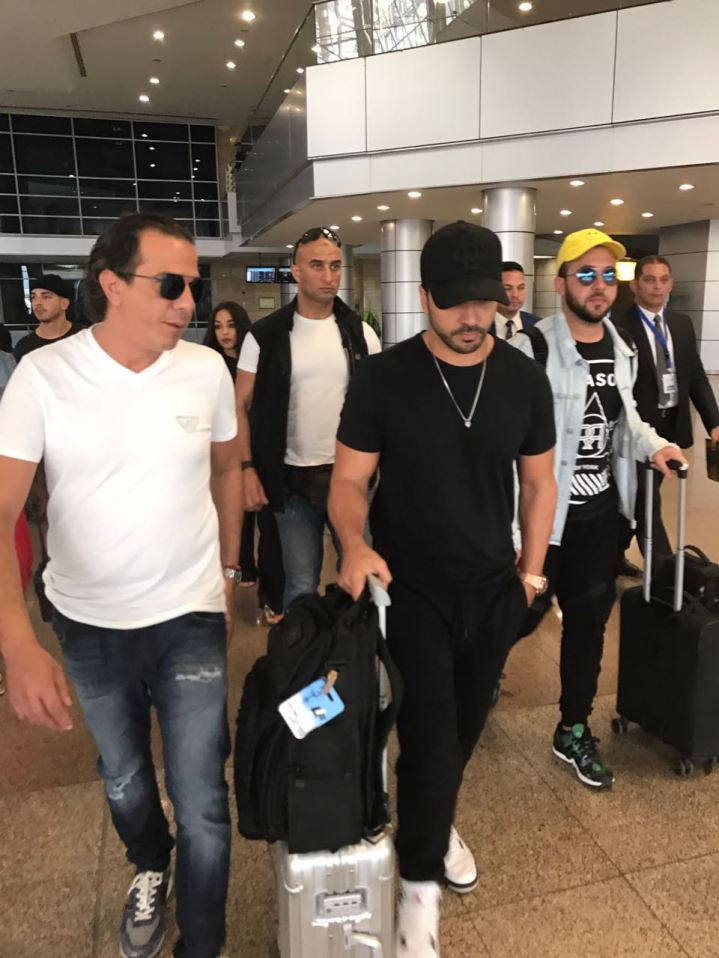 2017-08-12 Luis Fonsi Despacito arrives at Cairo Airport Egypt 3ain