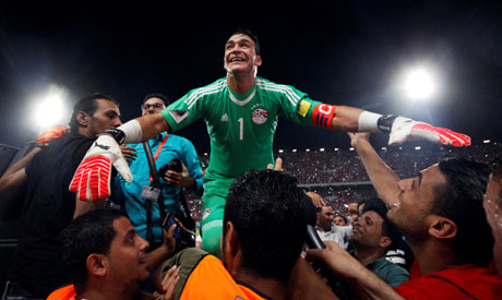 2017-10-08 Egypts goalie El Hadary express happiness after qualification to 2018 World Cup