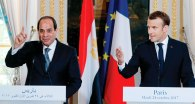 2017-10-25 Egypt President El Sisi and France Macron Elysee Paris Ahram 2017-636444774557321442-732