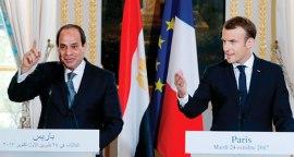 2017-10-25 Egypt President El Sisi and France Macron Elysee Paris Ahram 2017-636444774557321442-732