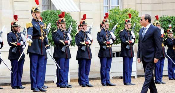 2017-10-25 Egypt President El-Sisi Elysee Palace Paris France Al-Ahram 2017-636444754855820193-582