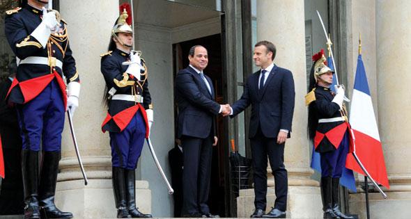 2017-10-25 Egypt President El-Sisi France Macron Elysee Paris Ahram 2017-636444812750008093-0