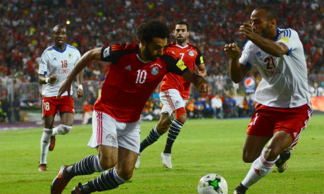 2017-10-8 Egyptian star Mohamed Salah puts two goals against Congo to Qualify World Cup 2018 -Ahram