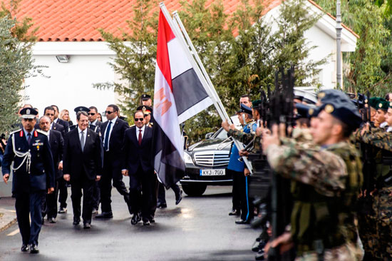 2017-11-23 Official welcome of President El-Sisi of Egypt with president Anastasiades in Nicosia, Cyprus 2017 Youm7