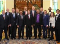 2017-11-28 Egypt President El-Sisi with Christian Evangelical world delegation in Cairo 2017 Al-Ahram 02