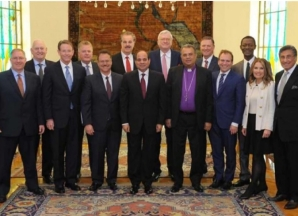 2017-11-28 Egypt President El-Sisi with Christian Evangelical world delegation in Cairo 2017 Al-Ahram 02