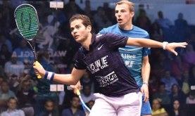 2017-12-07 Egyptian squash player Karim beat England's player during world final 2017 Al-Ahram