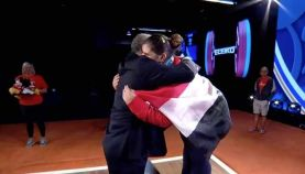 2017-12-07 Egyptian women weightlifting celebrate medal at world championship 2017 Youm7
