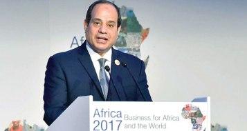 2017-12-10 President El-Sisi of Egypt during Africa 2017 summit in Sharm El Sheikh Al-Ahram 01