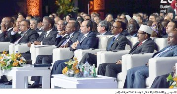2017-12-10 President of Egypt and African leaders during Africa 2017 summit in Sharm El Sheikh Al-Ahram 02