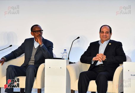 2017-12-10 President of Egypt and African leaders during Africa 2017 summit in Sharm El Sheikh Youm7 01
