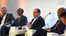 2017-12-10 President of Egypt and African leaders during Africa 2017 summit in Sharm El Sheikh Youm7 03