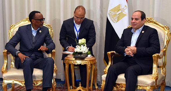 2017-12-10 RWANDA President El-Sisi Egypt and Kagame Rwanda in Sharm El-Sheikh 2017 Al-Ahram