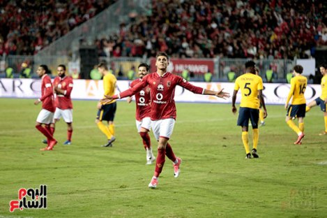 2017-12-31 Al-Ahly Atletico Madrid friendly match celebrate goal Alexandria 2017 - Youm7