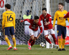 2017-12-31 Al-Ahly scores against Atletico Madrid friendly match for peace at Alexandria 2017 02 - Reuters