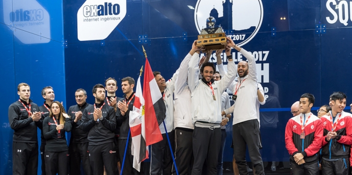 2017-12-31 Egypt Men Squash Team winners of PSA World Cup 2017 - Marseille France - PSA