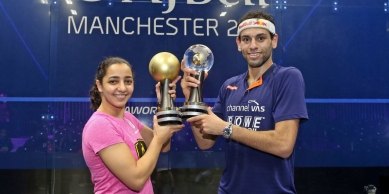 2017-12-31 El-Welily and El-Shorbagy Egyptian PSA Squash World Cup Holders 2017 - Manchester England - PSA