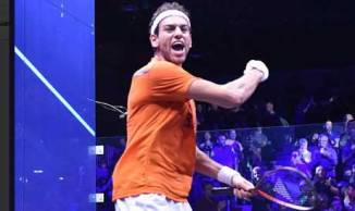 2017-12-31 Mohamed El-Shorbagy in the PSA Squash Men World - Manchester England 2017 - Al-Ahram