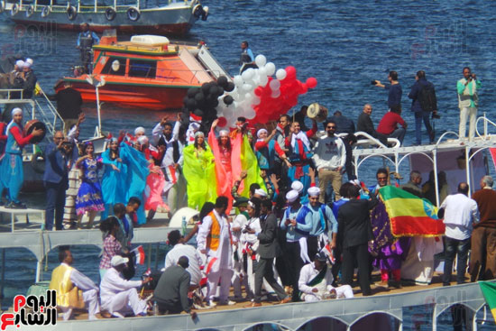 2018-02-21 Aswan International Cultural Carnival on the Nile river in Egypt Youm7