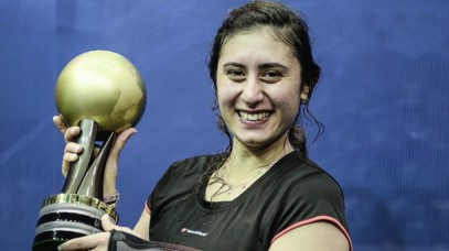 2018-02-23 Nour El Sherbini Egyptian woman squash player with world cup
