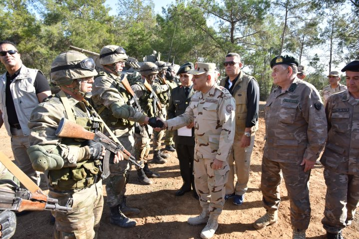 2018-03-11 Field visit by Egyptian military commanders in Nicosia Cyprus Youm7