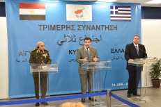 2018-03-11 Greek Egyptian Cypriot Ministers of Defense in Nicosia