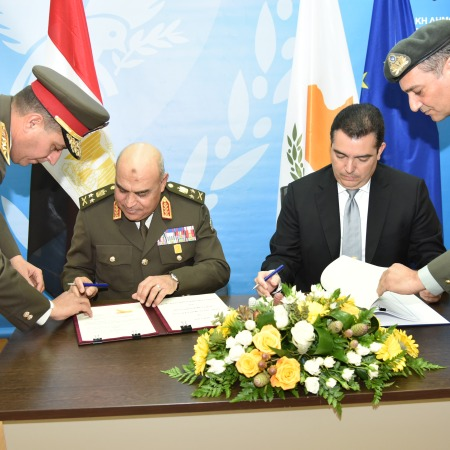2018-03-11 Signing bilateral agreements between military of Egypt and Cyprus in Nicosia