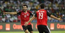 2018-03-18 Mo Salah celebrates a victory with the Egyptian National Team